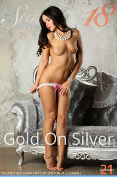 Stunning18 - Susan - Gold On Silver by Antonio Clemens