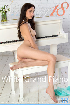 Stunning18 - Valerie - White Grand Piano by Antonio Clemens